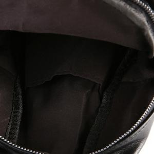 Trendy Solid Colour and Zipper Design Men's Messenger Bag - BLACK