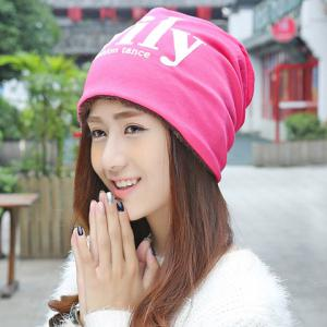 Chic Letters Pattern Double-Deck Thicken Beanie For Women -