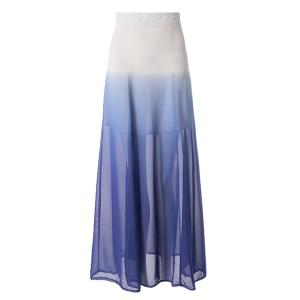 Ombre Color Flowy Chiffon Skirt - As The Picture - M