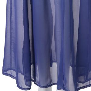 Ombre Color Flowy Chiffon Skirt - AS THE PICTURE S