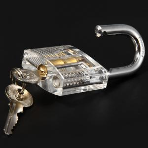 ZH - 0121 Transparent Practice Padlock Inside-view Pick for Locksmith -