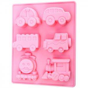 Silicone Train Design DIY Baking Mold Cake / Biscuit Manual Tool - Pink