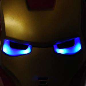 Cosplay Iron Man Mask with Blue Lite - Up Eyes Halloween Costumes - AS THE PICTURE