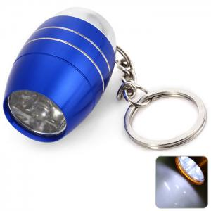 Cute Mini 6 LED Bright White Light Keychain Outdoor Camping Tool - Blue - Xl