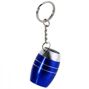 Cute Mini 6 LED Bright White Light Keychain Outdoor Camping Tool - BLUE