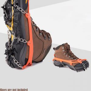 AOTU Anti-slip Mountaineering Climbing Crampons Boots Chain with 8 Teeth Ice Cleats or Crampons -