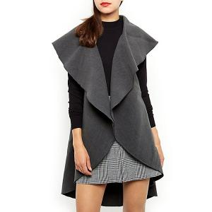Grey Plain Waterfall Gilet