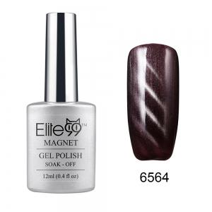 Elite99 Cat Eye 3D Magical Gel Polish Soak Off UV LED Nail Art  Manicure Salon12ml - Black Purple - 26