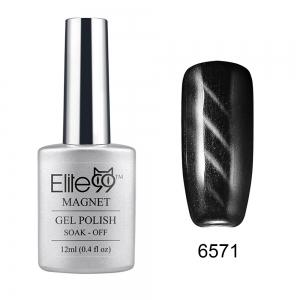 Elite99 Cat Eye 3D Magical Gel Polish Soak Off UV LED Nail Art  Manicure Salon12ml - Black - 26