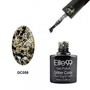 Elite99 Glitter Color Gel Soak Off Nail Polish UV LED Diamond Glitter Shimmer Effect 10ml - White And Black - 26