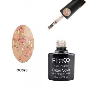 Elite99 Glitter Color Gel Soak Off Nail Polish UV LED Diamond Glitter Shimmer Effect 10ml - Light Apricot - 29