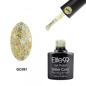 Elite99 Super Star Diamond Glitter Nail Gel Polish Soak Off UV LED Nail Art 10ml - Light Yellow - 29