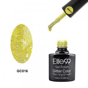 Elite99 Soak Off Diamond Glitter Polish UV LED Soak Off Gel Nail Lacquer 10ml