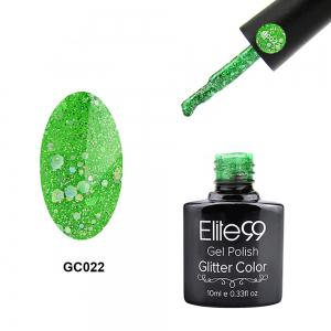 Elite99 Soak Off Diamond Glitter Polish UV LED Soak Off Gel Nail Lacquer 10ml - Jade Green