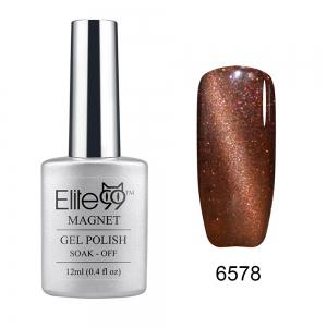 Elite99 Soak Off Cat Eye 3D Nail Tip UV Gel Polish Nail Art Design 12ml - Shimmer Chocolate - 31