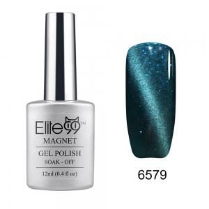 Elite99 Soak Off Cat Eye 3D Nail Tip UV Gel Polish Nail Art Design 12ml - Shimmer Teal - 31