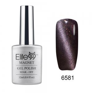 Elite99 Soak Off Cat Eye 3D Nail Tip UV Gel Polish Nail Art Design 12ml - Shimmer Black Currant - 31