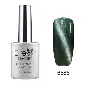 Elite99 Soak Off Cat Eye 3D Nail Tip UV Gel Polish Nail Art Design 12ml - Glitter Greyish-green - 31