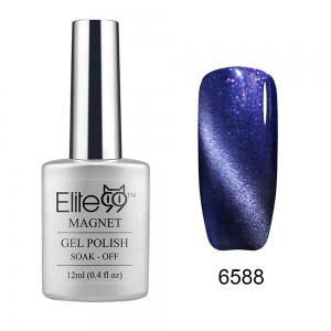 Elite99 Soak Off Cat Eye 3D Nail Tip UV Gel Polish Nail Art Design 12ml - Shimmer Steel Gray