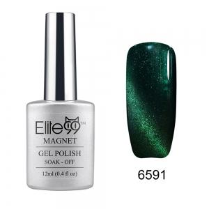 Elite99 Soak Off Cat Eye 3D Nail Tip UV Gel Polish Nail Art Design 12ml - Hunter Green - 31
