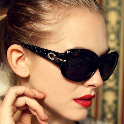 Chic Chic Rhinestone and Hollow Out Design Big Frame Sunglasses For Women