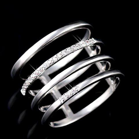 Buy Delicate Beads Hollow Ring For Women -   Mobile