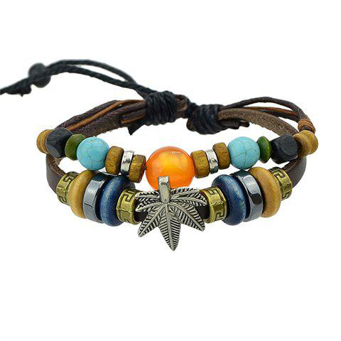New Retro Beads Leaf Bracelet
