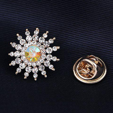 Shop Rhinestone Embellished Sun Flower Brooch - WHITE  Mobile
