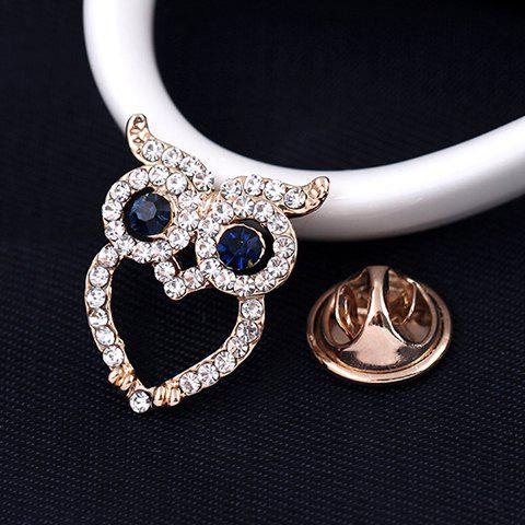 Affordable Sweet Hollow Owl With Rhinestone Brooch For Women - WHITE  Mobile