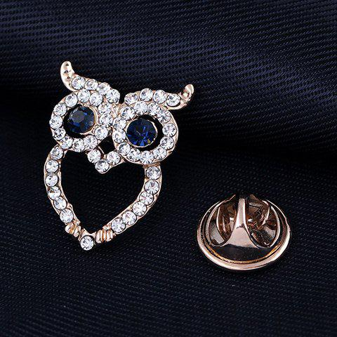 Cheap Sweet Hollow Owl With Rhinestone Brooch For Women - WHITE  Mobile
