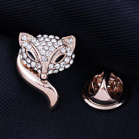 Affordable Inlaid Rhinestone Fox Brooch