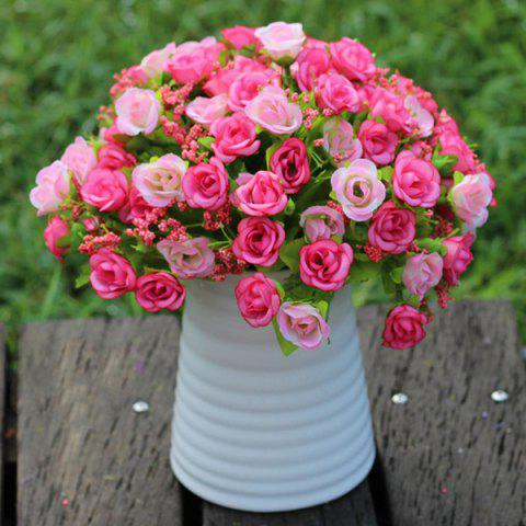 Outfit A Bouquet of Delicate Living Room Decoration Diamond Shape Artificial Rose (No Vase) - PINK  Mobile