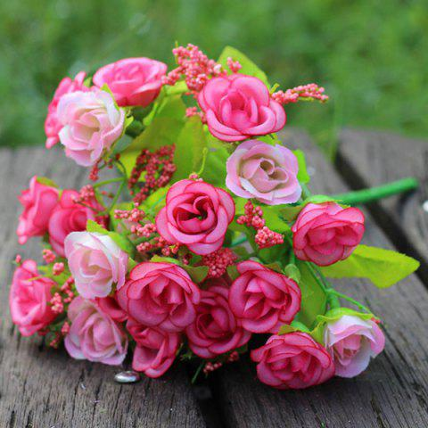 New A Bouquet of Delicate Living Room Decoration Diamond Shape Artificial Rose (No Vase) - PINK  Mobile