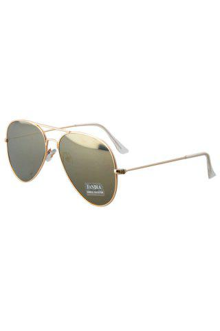 Chic Chic Golden Full Frame Mirror Pilot Sunglasses GOLDEN