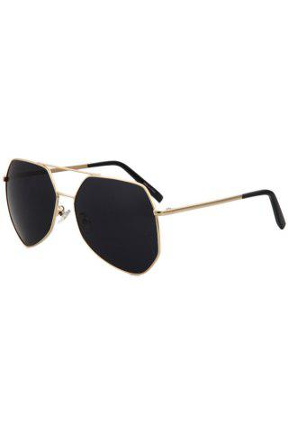 New Chic Golden Alloy Frame Affordable Polarized Sunglasses BLACK