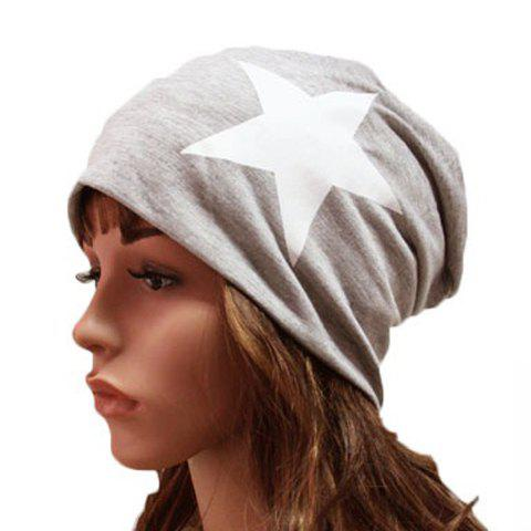 Cheap Chic Big Five-Pointed Star Pattern Beanie For Women