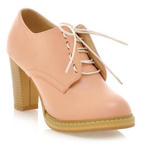 Latest Sweet Solid Colour and Chunky Heel Design Women's Pumps
