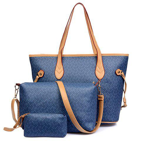 Sale Elegant Printed and PU Leather Design Women's Shoulder Bag -   Mobile