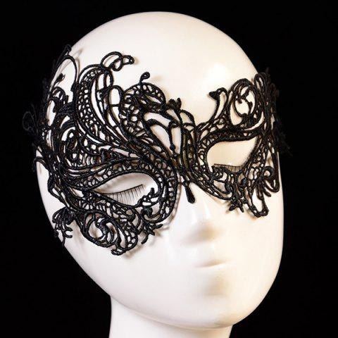 Outfit Fashionable Butterfly Shape Hollow Out Lace Halloween Party Mask For Women