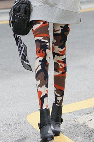 Shops Fashionable Camouflage Print Skinny Leggings For Women