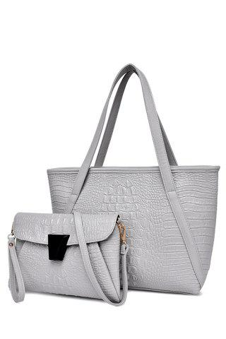 Online Fashionable Crocodile Print and Zipper Design Women's Shoulder Bag