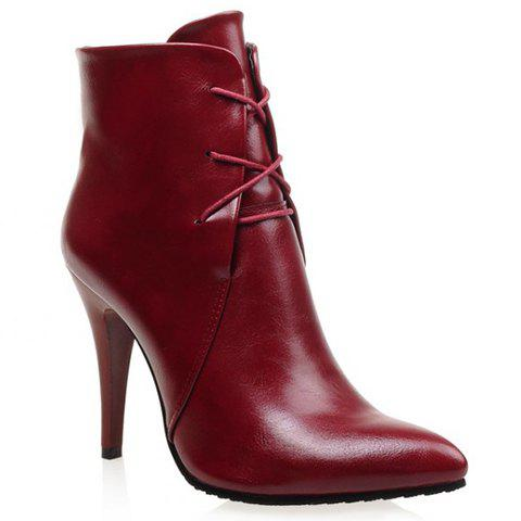 Image of Pointed Toe Design High Heel Boots For Women