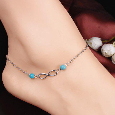 Sale Retro Style Turquoise Infinity Anklet For Women