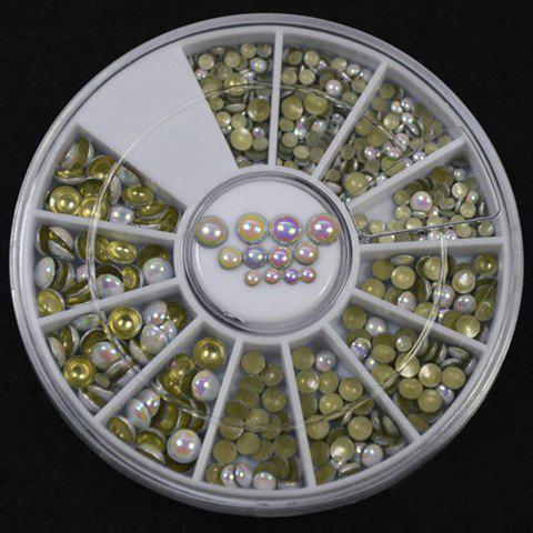 Sale One Box Various Size Rounded Beads DIY Nail Art Decoration