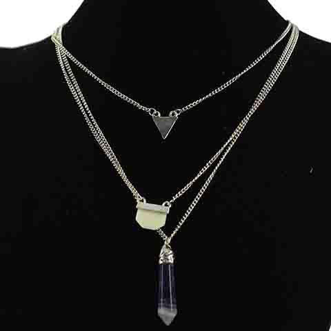 Buy Exaggerate Layered Faux Crystal Necklace For Women