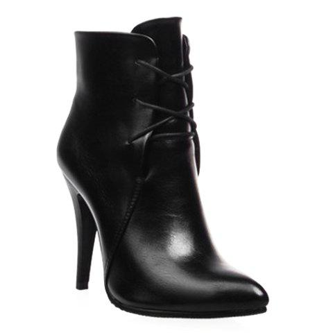 Affordable Stylish Solid Colour and Pointed Toe Design Women's High Heel Boots