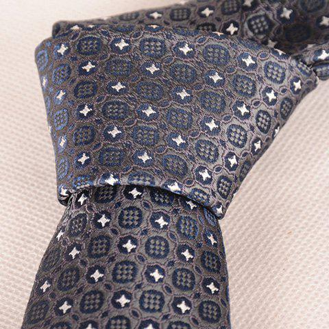 Outfits Stylish Fulled Embroidery Jacquard Casual Tie For Men - SILVER GRAY  Mobile