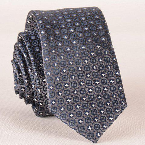 Hot Stylish Fulled Embroidery Jacquard Casual Tie For Men SILVER GRAY