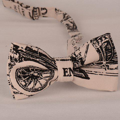 Discount Stylish Wheel Scrawl Pattern Bow Tie For Men