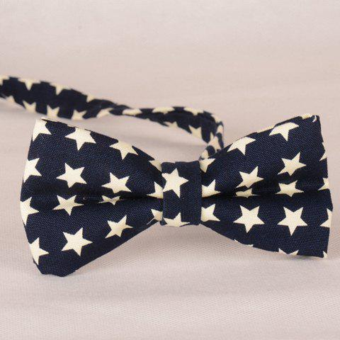 Stylish Fulled Five-Pointed Stars Pattern Bow Tie For Men - PURPLISH BLUE